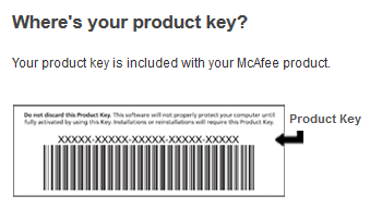 Where your mcafee product key