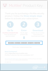 Mcafee product key